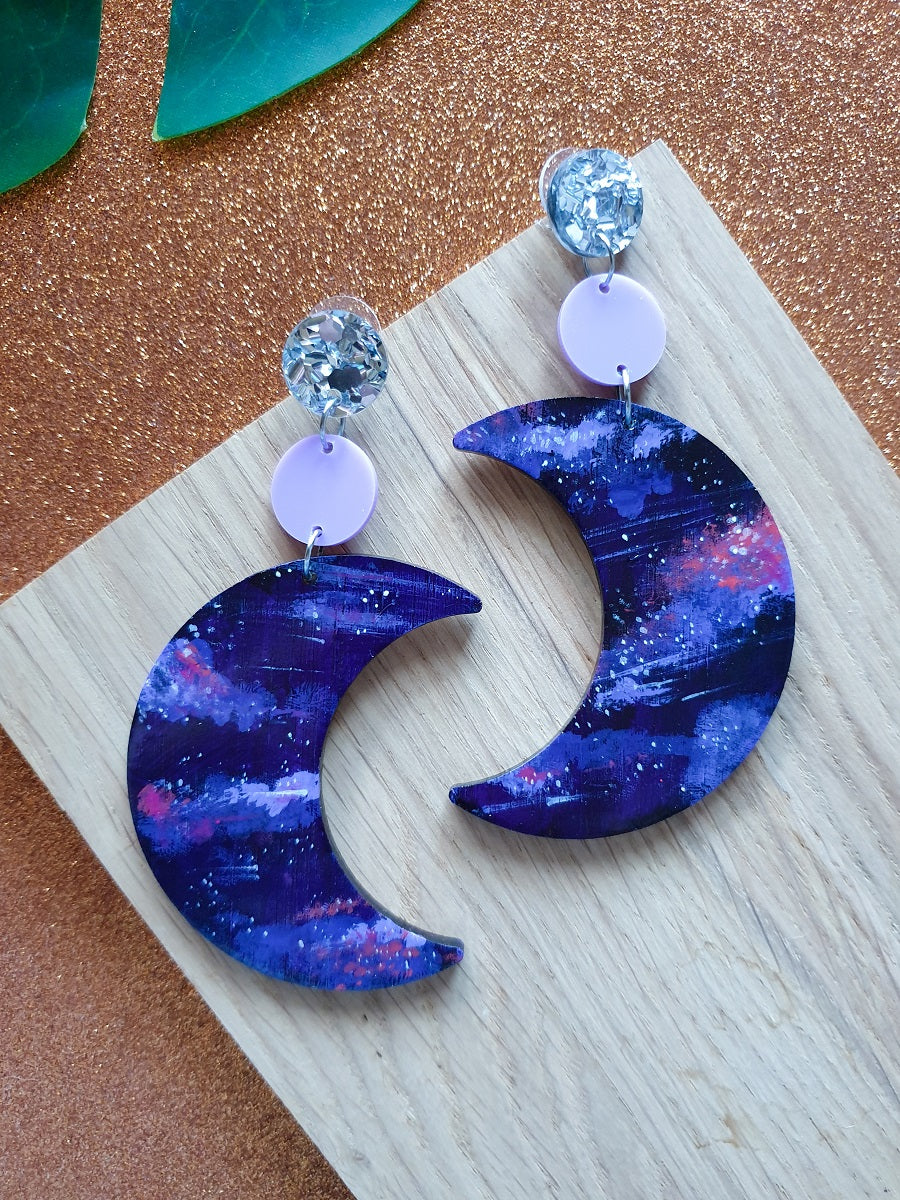 'galaxy moon' dangles