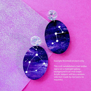 custom 'zodiac constellation' - dangles (made to order)