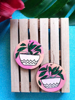 'Potted plants' (pink) - dangles