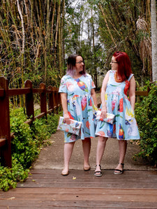 Birds of Parrot - dise in the Bonny Dress - COTTON JESRSEY