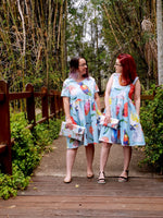 Birds of Parrot - dise in the Jodie Dress - COTTON JESRSEY