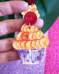 Orange blossom cupcake - dangles