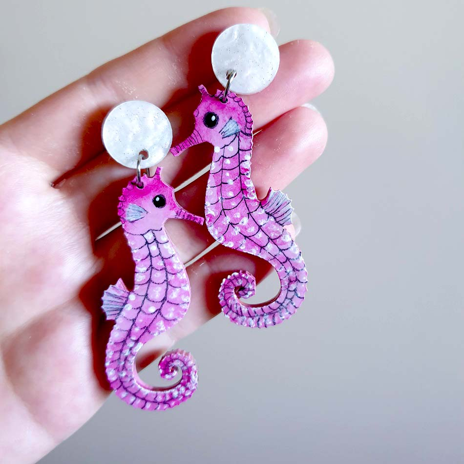 'Pinky the seahorse' - dangles