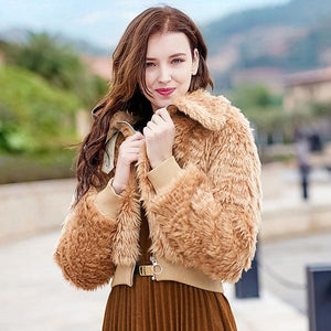 Long Sleeve Coat Thickened Lapel Coat