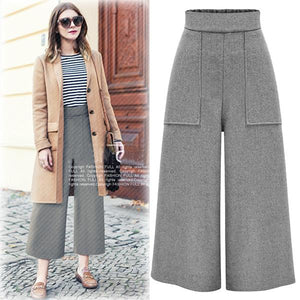 Solid Color Loose Pants Concise Long Pants