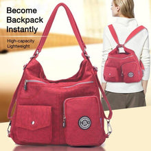 Fashion Casual Waterproof Nylon Backpack Messenger Bag Shoulder Bag
