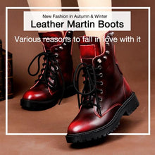 Fashion Brushed Leather Martin Boots Rivet Boots