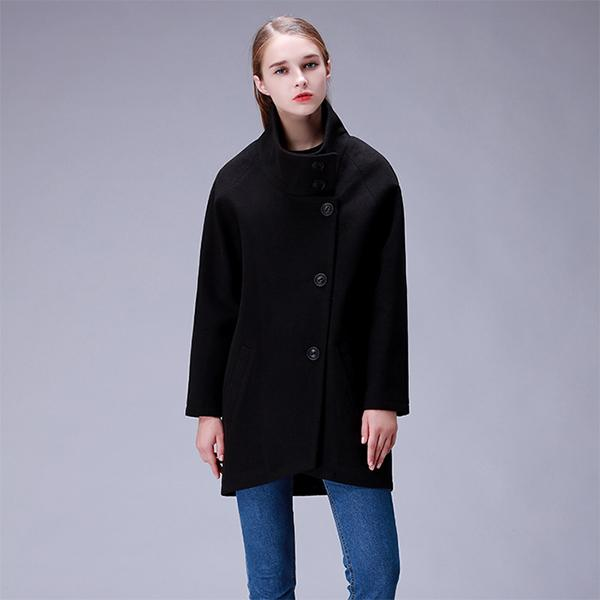 Thickened Long Wool Coat Cocoon-shape Coat