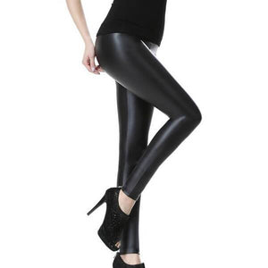 Faux Leather High Waisted Leggings