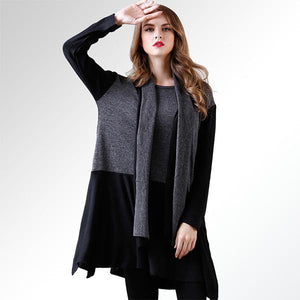 Contrast Color Splicing Knitting Dress