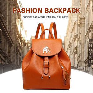 Soft PU Leather Backpack Drawstring Shoulder Bag