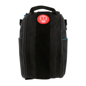 Exterior of insulated medical bag showing the medical alert patch.