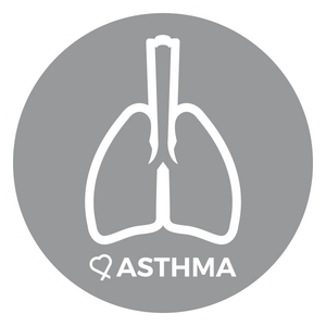 Asthma alert patch to be used on medical bag, backpacks and other bags. Can be used where you use moral patches.