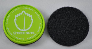 Tree Nuts Allergy alert patch to be used on medical bag, backpacks and other bags. Can be used where you use moral patches.