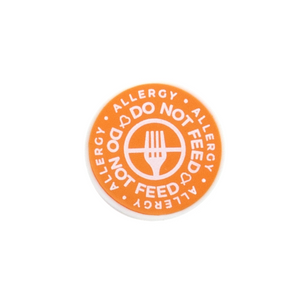 Do Not Feed alert charm meant to be used on a medical alert bracelet or band. Used to help alert others and help prevent exposure to food allergies