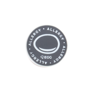 Egg Allergy alert charm meant to be used on a medical alert bracelet or band. Used to help alert others and help prevent exposure to egg