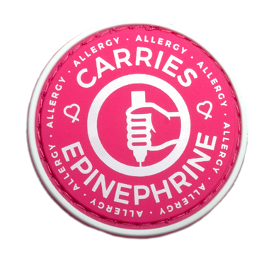Carries Epinephrine alert patch to be used on medical bag, backpacks and other bags. Can be used where you use moral patches. Always Carry Two