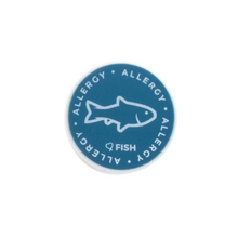 Fish Allergy alert charm meant to be used on a medical alert bracelet or band. Used to help alert others and help prevent exposure to Fish