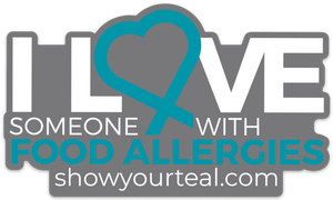 Food Allergy Awareness Car Decal to show off your support and love of someone who has food allergies.