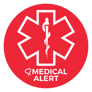 Medical Alert sticker used to identify where medicine and other medical supplies are kept