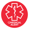 Red and White medical alert icon