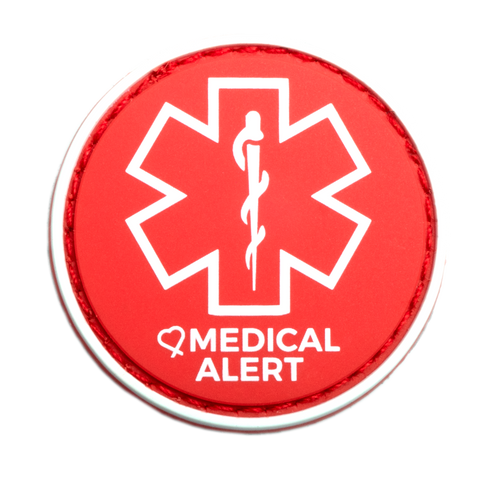 Medical Alert patch to be used on medical bag, backpacks and other bags. Can be used where you use moral patches.