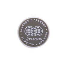 Peanut Allergy alert charm meant to be used on a medical alert bracelet or band. Used to help alert others and help prevent exposure to peanuts