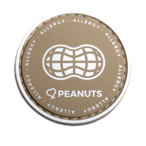 Peanut Allergy alert patch to be used on medical bag, backpacks and other bags. Can be used where you use moral patches.