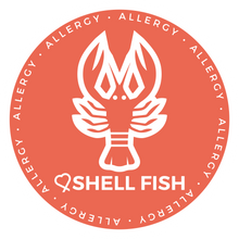 Shellfish Alert patch to be used on medical bag, backpacks and other bags. Can be used where you use moral patches.