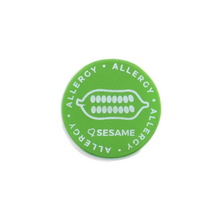 Sesame Allergy alert charm meant to be used on a medical alert bracelet or band. Used to help alert others and help prevent exposure to sesame