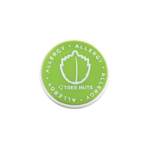 Tree Nut Allergy alert charm meant to be used on a medical alert bracelet or band. Used to help alert others and help prevent exposure to tree nuts