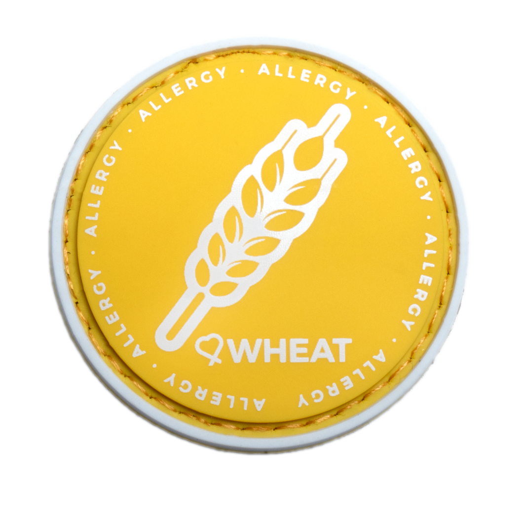 Wheat Allergy alert patch to be used on medical bag, backpacks and other bags. Can be used where you use moral patches.