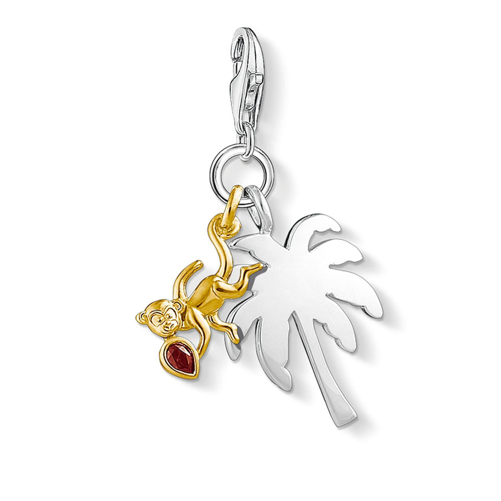 "Charm Pendant ""Palm Tree With Monkey"" - THOMAS SABO Thailand"