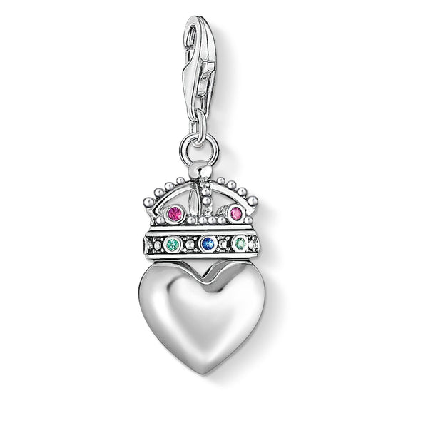 "Charm Pendant ""Heart With Crown"" - THOMAS SABO Thailand"