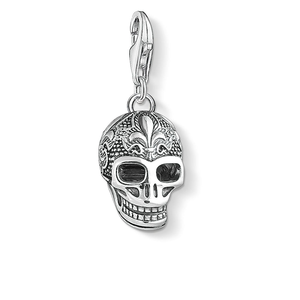 "Charm Pendant ""Skull With Lily"" - THOMAS SABO Thailand"