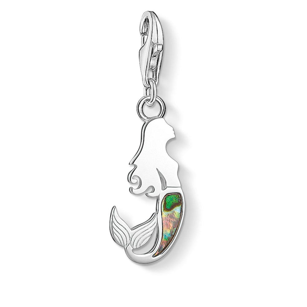 "Charm pendant ""mermaid abalone mother-of-pearl"""