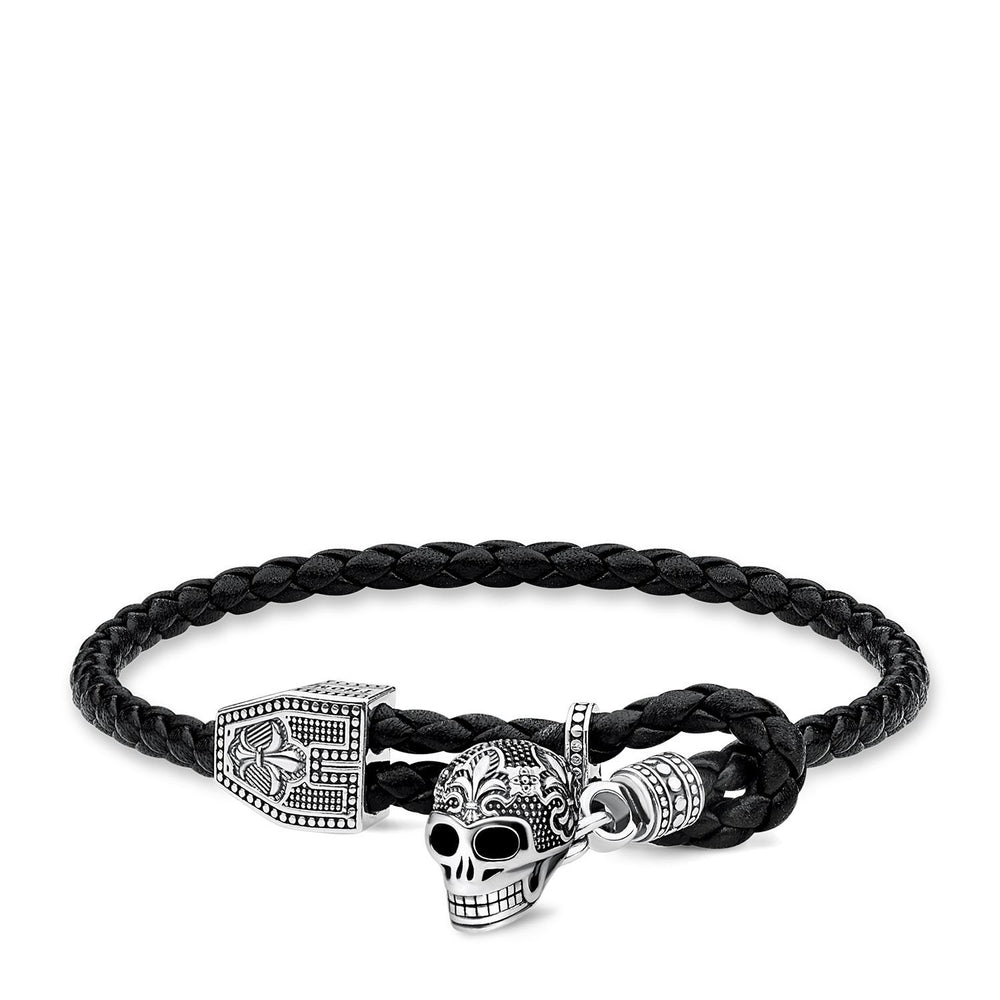 "Leather strap ""skull"""