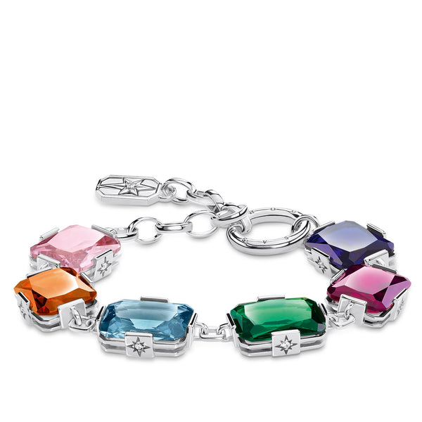 Bracelet Large colourful stones, silver - THOMAS SABO Thailand