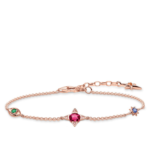 Bracelet Small lucky charms, rose-gold