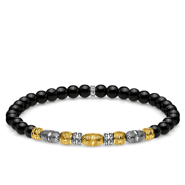Bracelet Two-tone lucky charm, black - THOMAS SABO Thailand