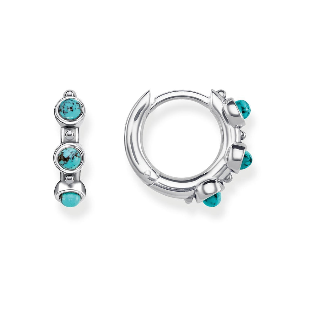 "Hoop Earrings ""Turquoise"" - THOMAS SABO Thailand"