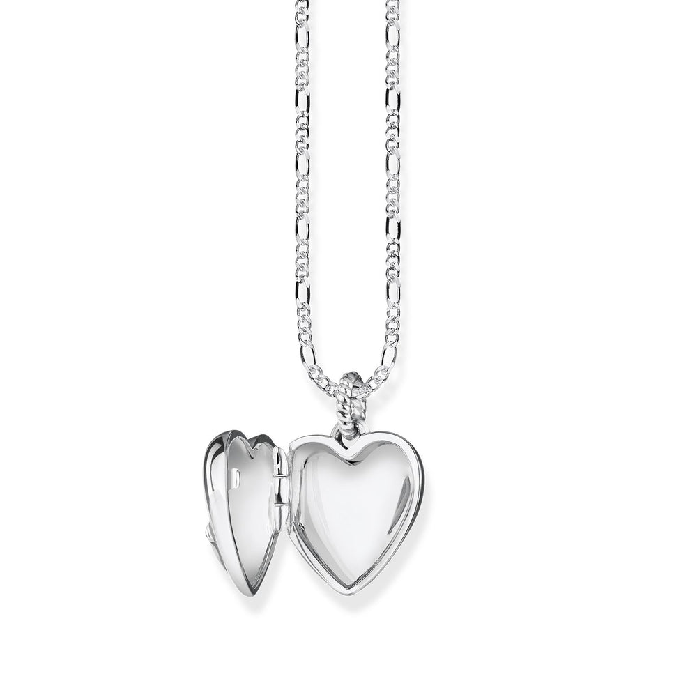 "Necklace ""heart locket anchor"""