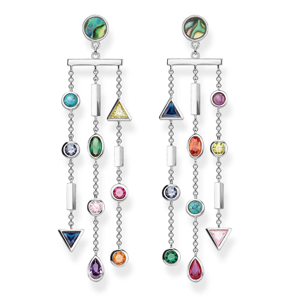 "Earrings ""Colourful Stones"""