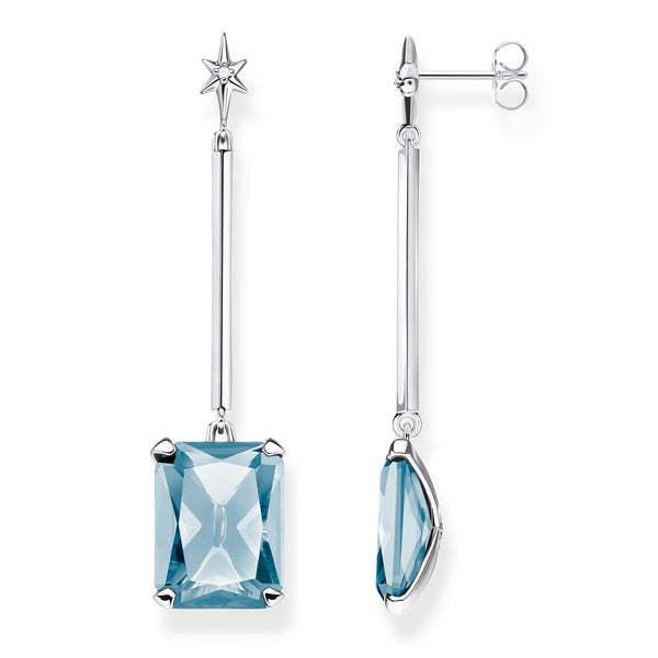 Earrings Blue stone with star - THOMAS SABO Thailand