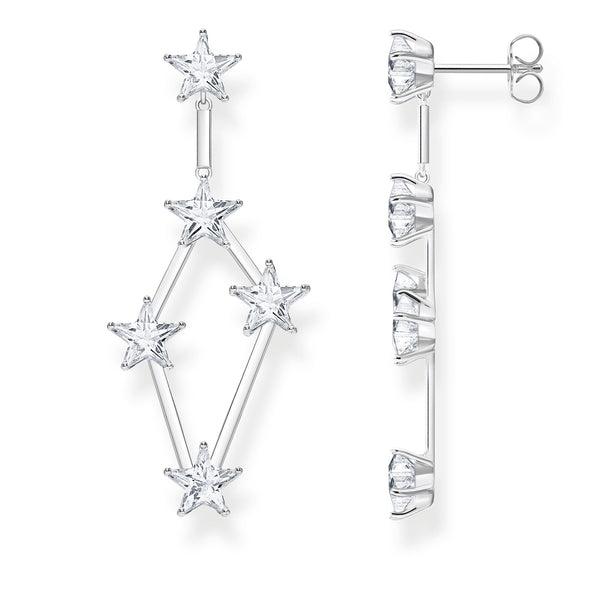 Earrings stars silver