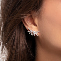 earring leaves with chain large silver - THOMAS SABO Thailand