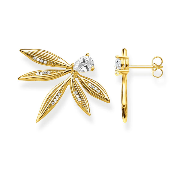 ear studs leaves gold - THOMAS SABO Thailand