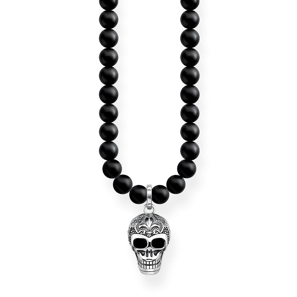 "Necklace ""Power Necklace Skull With Lily"" - THOMAS SABO Thailand"