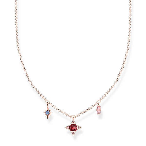 Necklace Lucky symbols, rose-coloured - THOMAS SABO Thailand