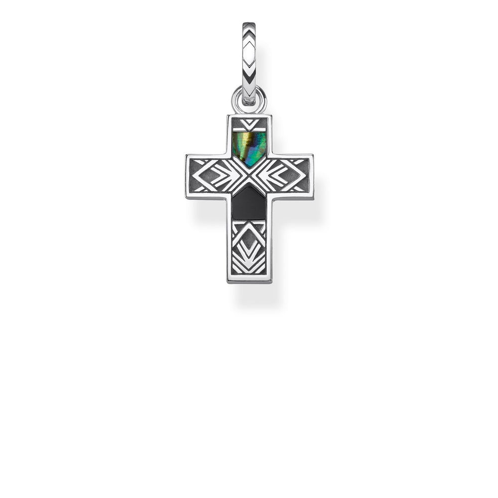 "Pendant ""Cross Abalone Mother-of-pearl"""